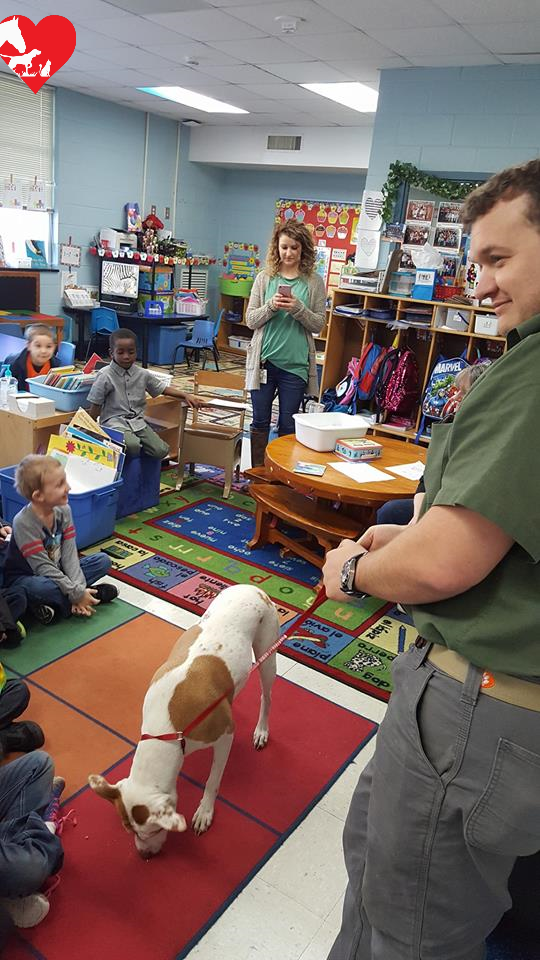 School kids learning about Veterinary Pet Care